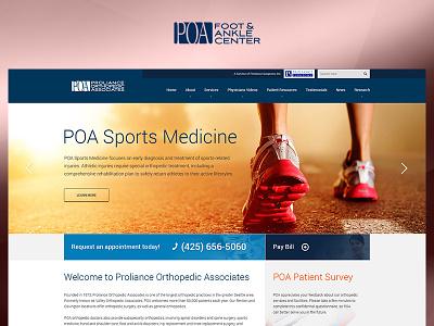 POA yellow blue fun case study photoshop website web redesign project ux ui design