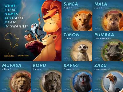 The Lion King website photoshop ux uiux ui king names project movie lion king lion design