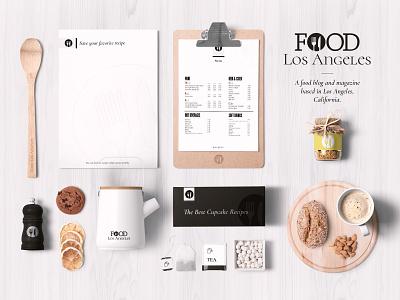 Food Los Angeles Logo blog california losangeles food icon typography branding vector logo project design