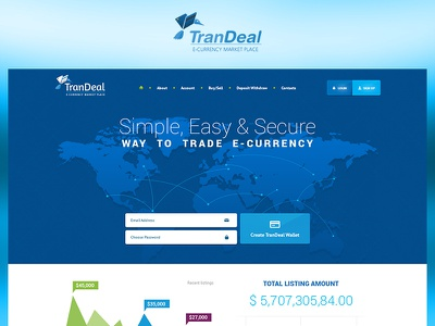 Trandeal branding case study photoshop web website redesign ux ui design project