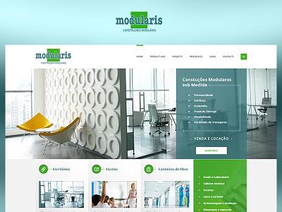 Modularis fun case study photoshop web website ui redesign ux design project