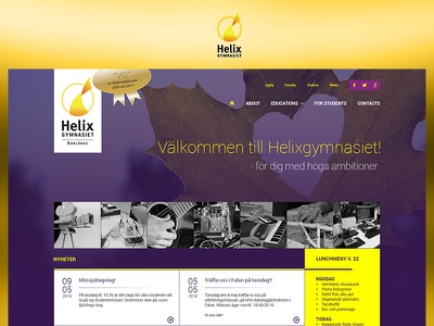Helix fun case study photoshop web website redesign ui ux design project