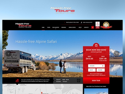 Hassle free tours fun case study photoshop web website redesign ux ui design project