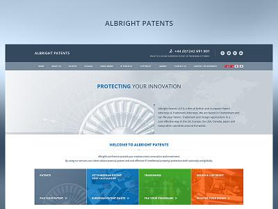 Albright Patents fun case study photoshop web website redesign ux ui design project