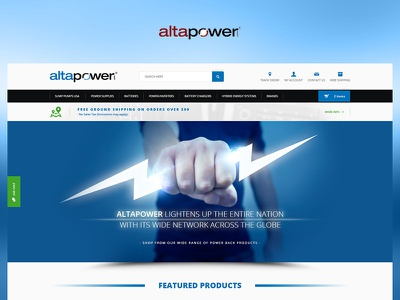 Altapower fun case study photoshop ui web website redesign ux design project