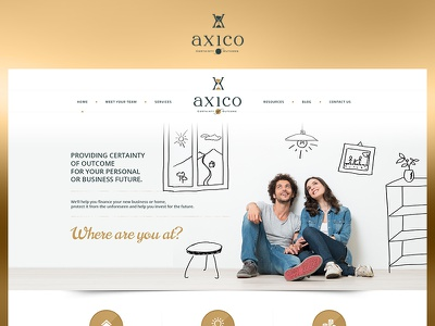 Axico fun case study ui photoshop web website redesign ux design project