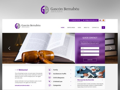 Gascon fun case study photoshop web website redesign ui ux design project