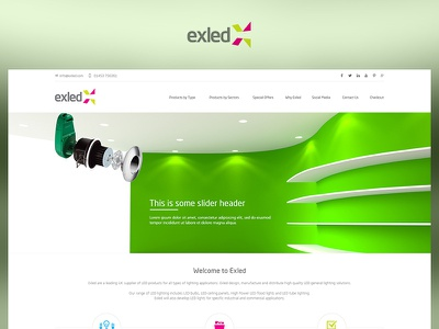 Exled fun case study photoshop web website redesign ui ux design project