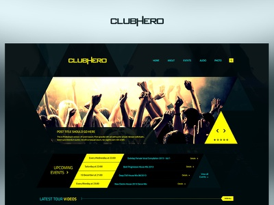 Clubhero fun case study photoshop web website redesign ux ui design project