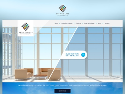 Active Glass blue case study web photoshop website ui redesign ux design project