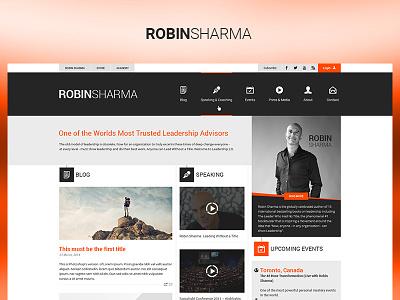 Robin Sharma fun case study photoshop web website redesign ux ui design project