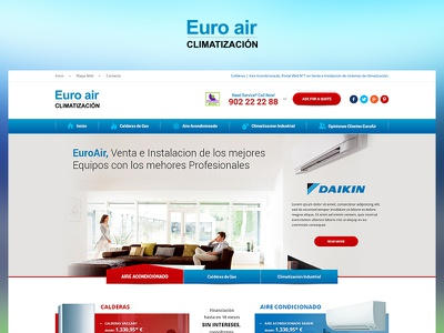Euro Air fun case study photoshop web website redesign ux ui design project