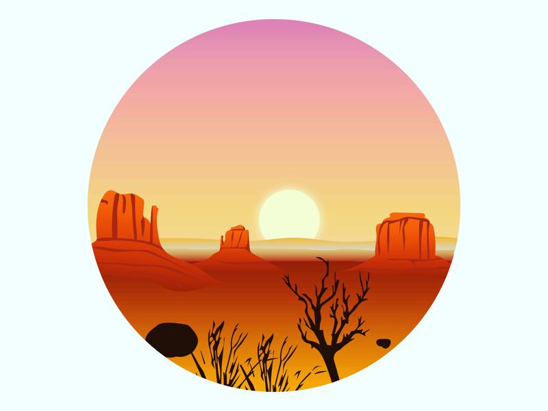 Monument Valley monument valley utah landscape art landscape digital art graphic design design art vector adobe illustrator adobe illustration illustrator
