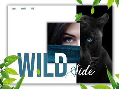 "Landing Page ""Wild Side"" design art digital photo edition digital image user experience uiux mock up adobe creative cloud adobe photoshop photoshop web design website landing page layout"