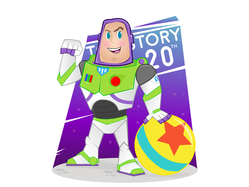 Buzz Lightyear Icon: Toy Story 20th Anniversary