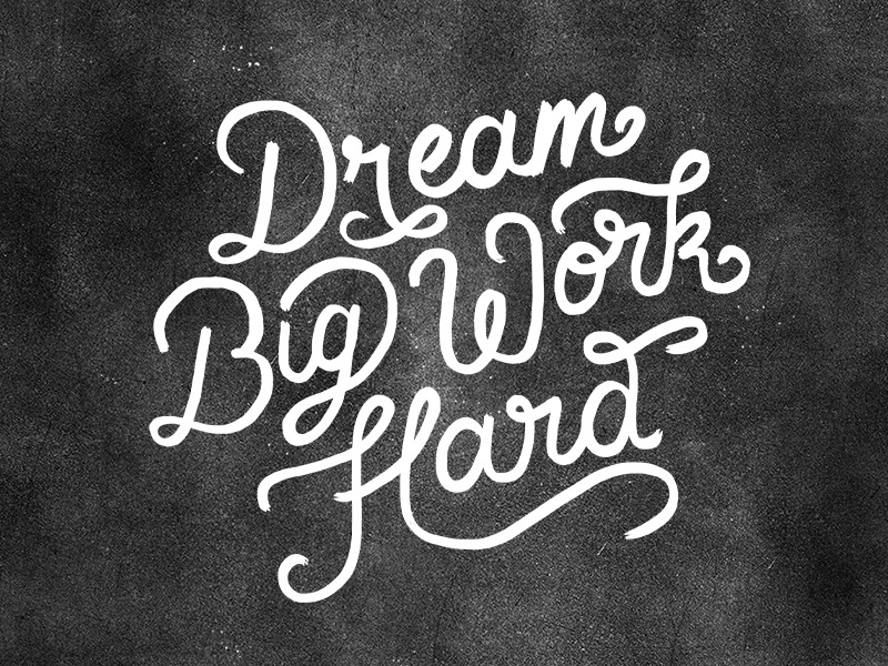 Dream Big Work Hard Wallpaper By Dina Rodriguez On Dribbble