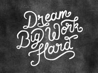 Dream Big Work Hard Wallpaper