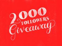 Instagram - 2000 Followers Giveaway