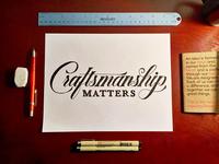 Craftsmanship Matters