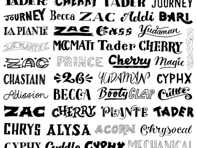 Twitch Raffle Participants  giveaway contest twitch typography type lettering hand lettering
