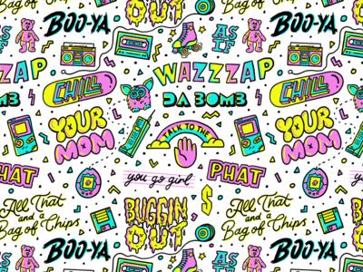 90's Slang Pattern