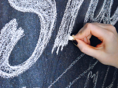 Getting back into chalk murals hand drawn type chalk mural chalk lettering typography hand lettering lettering