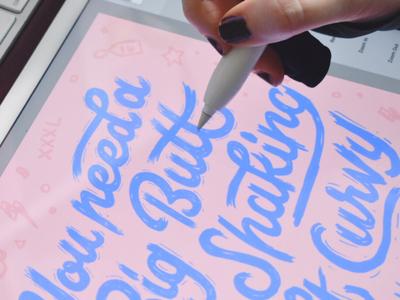 iPad Pro Lettering Process