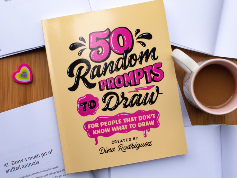 50 Random Prompts to Draw by Dina Rodriguez on Dribbble