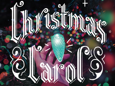Christmas Carol Workbook holiday card holiday design holiday christmas card condensed font condensed blackletter educational workbook lettering art carol christmas letters art design illustration type hand lettering typography lettering