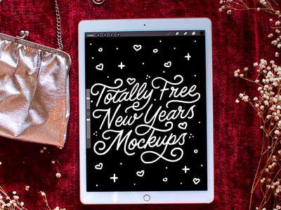 New Years Mockups background ipadpro new year eve new years ipad mockup mock-ups mock ups mock-up mock up brush letters art design drawing illustration script type hand lettering typography lettering