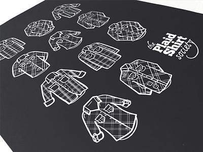 Pick your Plaid plaid illustration shirt button-down poster vintage lumberjack hipster nonprofit print vector graphic