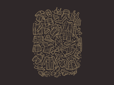 The Plaid Collection tshirt graphic nonprofit illustration