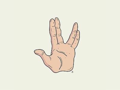 Live long & prosper :) star trek print poster hand spock illustration