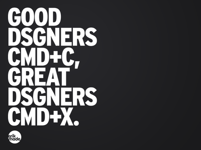 Great Dsgners CMD+X. shirt typography bold graphic tee