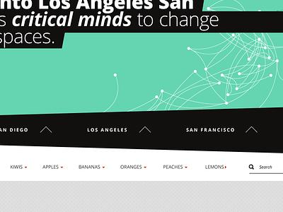 Data Viz mint navigation focal typography flat data visualization responsive interactive