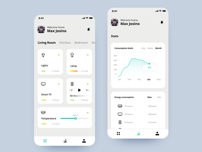 Smart Home app concept smarthome automation smart home uiux product user interface user experience ui design ui mobile screens mobile design mobile interface interaction design interaction creative design app design