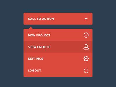 Dropdown menu flat user interface ui app interface icon product ux dropdown menu navigation nav
