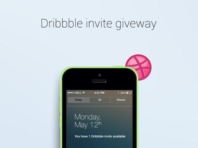 Dribbble Invitation dribbble invite invitation giveaway ios prospect