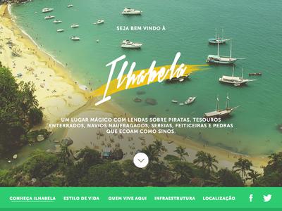 Welcome to Ilhabela - Website website webdesign flat ui uiux nature beach brazil summer interface user interface web
