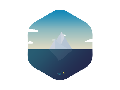 A trip to the Arctic vector nature icon badge illustration shape flat