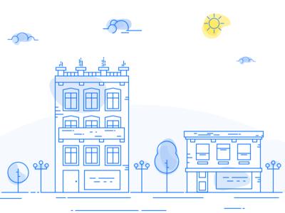 City illustration experiment