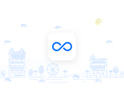 CICLO - Discover your city by bike landscape branding ios sketch illustration gps transportation bicycle user interface