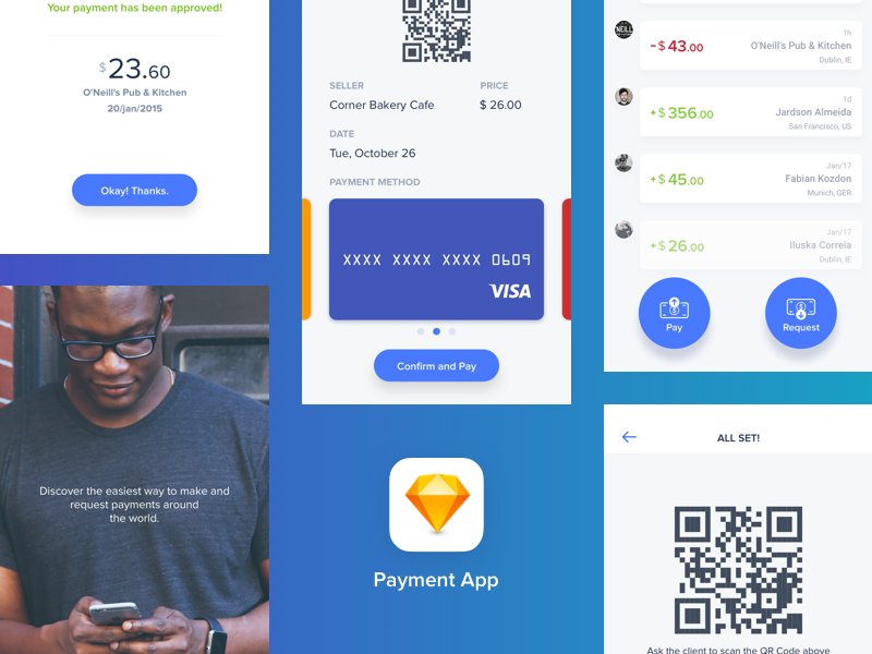Download Quick Payments App — Sketch freebie