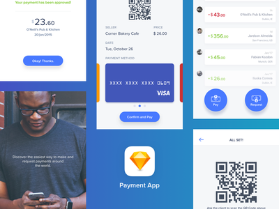 Quick Payments App — Sketch freebie download freebie product sketch ios qrcode payment money user interface uiux