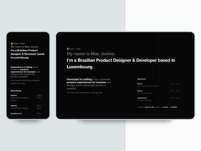 Portfolio / Personal Website frontend animation responsive webdesign minimalism typography landing page website design user interface
