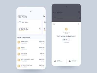 FV - Personal Banking product design interface uiux banking app ui user interface finance financial app fintech product design
