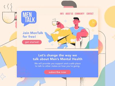 MenTalk Landing Page