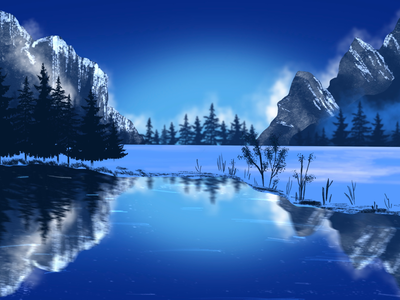 Landscape Winter Scene
