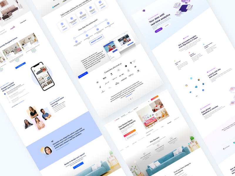 Website Folio minimal clean ui ux interface design ui kit web ui homepage design landing page website design branding experience design design system design