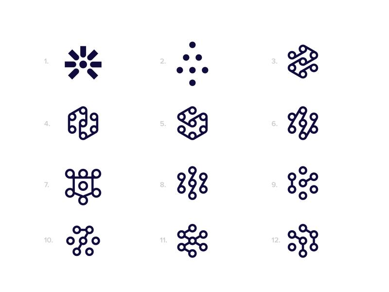 7 Human logo feedback technology logo saas humans 7 network human variations logo